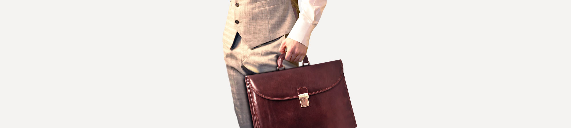 Document Leather briefcase Brown Tuscany Leather Sorrento TL141022//1