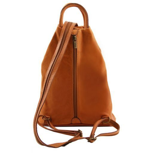 Shanghai Leather backpack Beige TL140963