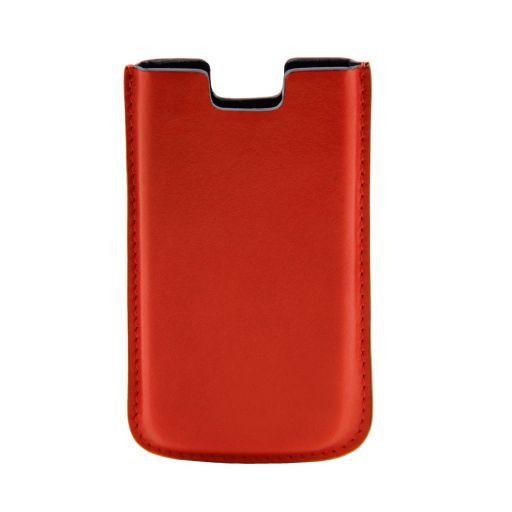 Esclusivo porta iPhone SE/5s/5 in pelle Arancio TL141128