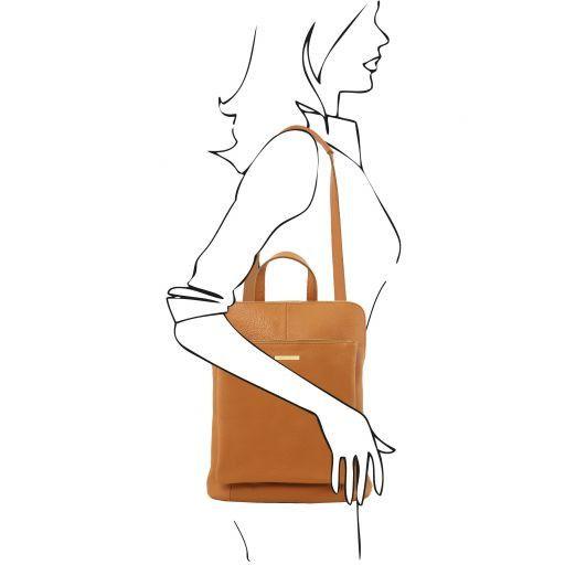 TL Bag Mochila para mujer en piel suave Azul oscuro TL141682