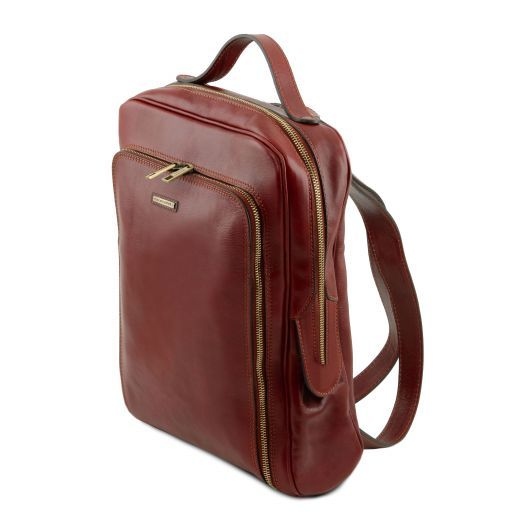 Bangkok Zaino porta notebook in pelle Marrone TL141793