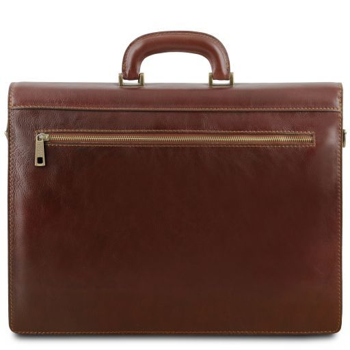Parma Leather briefcase 2 compartments Red TL141350