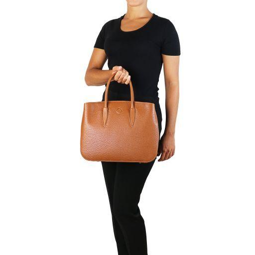 Camelia Leather handbag Cognac TL141728