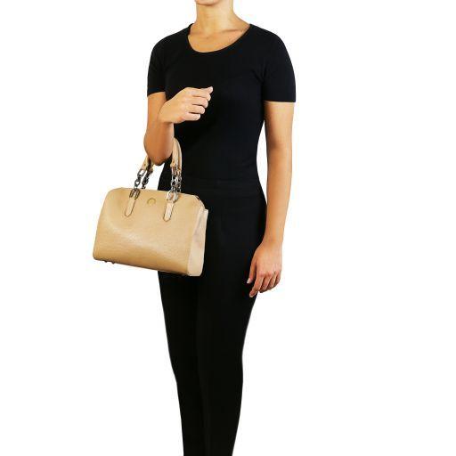 Lilia Leather handbag Forest Green TL141876