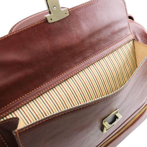 Giotto Esclusiva borsa medico in pelle con doppio fondo Marrone TL141297