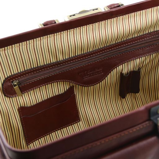 Giotto Exclusive double-bottom leather doctor bag Brown TL141297