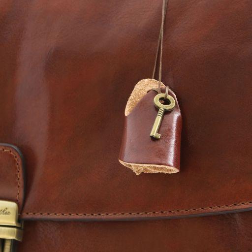 Alessandria TL SMART Multifach-Notebooktasche aus Leder Braun TL141448