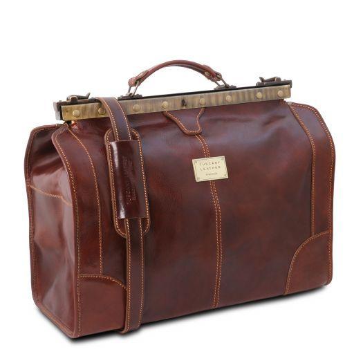 Madrid Кожаная сумка Gladstone - Маленький размер Коричневый TL1023