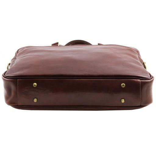 Urbino Notebook-Aktentasche aus Leder 2 Fächer mit Vorderfach Braun TL141894