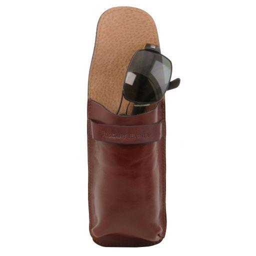 Exclusif étui pour lunettes/Smartphone en cuir Grand modèle Miel TL141321