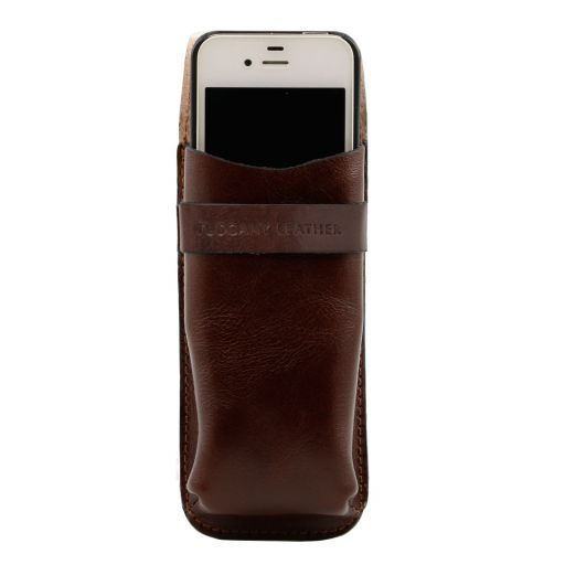Exclusive leather eyeglasses/Smartphone/Watch holder Brown TL141282