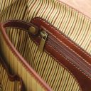 Mantova Leather multi compartment TL SMART briefcase with flap Мед TL142068