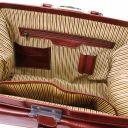 Giotto Elegante bolso de doctor en piel con doble fondo Marrón TL142071