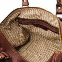 TL Voyager Borsa da viaggio in pelle con tasca sul retro - Misura piccola Testa di Moro TL141250