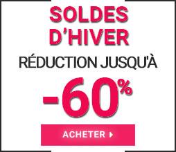 Jusqu'à 60% de réduction! Soldes d'Hiver 2019