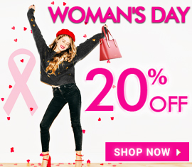 20% off Special Woman's Day