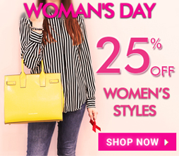 25% off Special Woman's Day