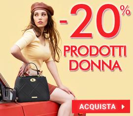 -20% su tutti i prodotti donna