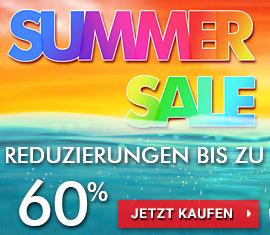 Sommerschlussverkauf Reduzierungen bis zu 60%