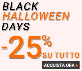-25% su TUTTO! Black Halloween Days