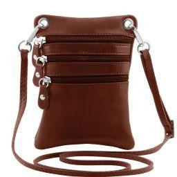 TL Bag Mini Schultertasche aus weichem Leder Braun TL141368