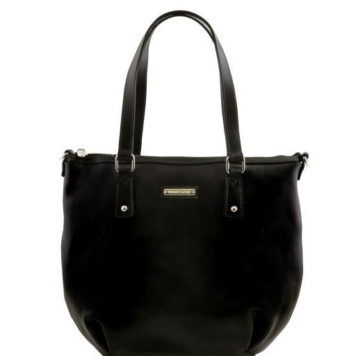 Olga Leather shopping bag - Large size Black TL141484