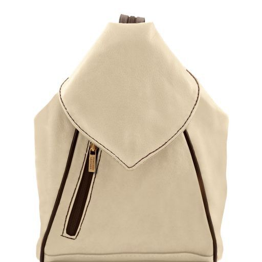 Delhi Leather backpack Beige TL141623