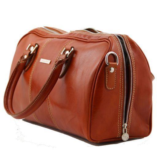 Monte Carlo Mini - Дорожная кожаная сумка Коричневый TL10150