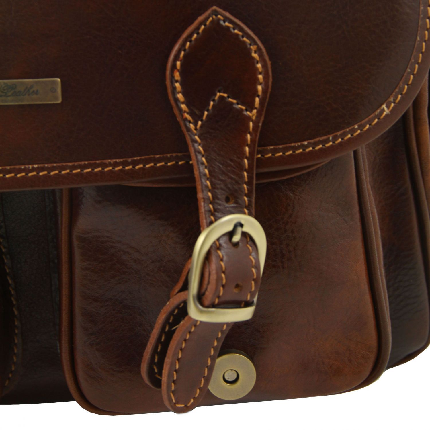 Tuscany Leather - San Marino - Sac de voyage en cuir avec poches frontales Marron - TL10180/1 t0040GQ0LC