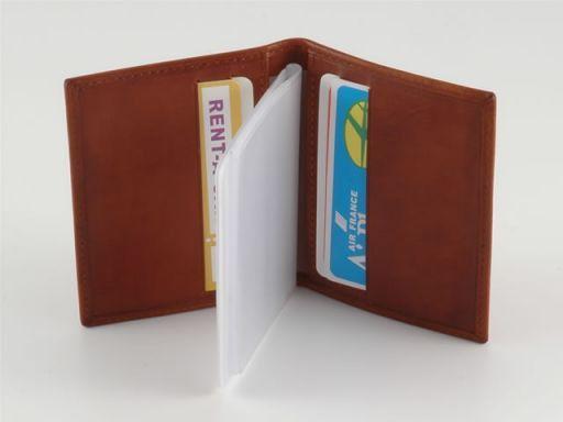 Portacarte di credito in pelle Arancio TL140214
