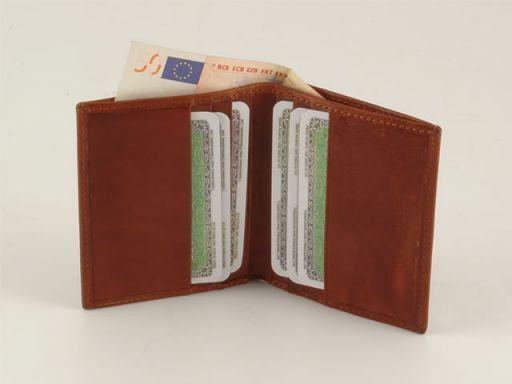Esclusivo portacarte di credito in pelle Nero TL140504