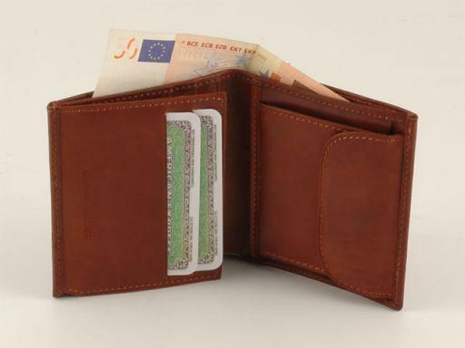 Esclusivo portafogli da uomo in pelle Marrone TL140508