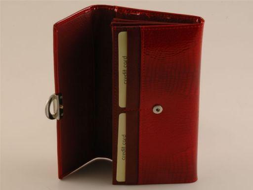 Esclusivo portafogli da donna in pelle Rosso TL140604