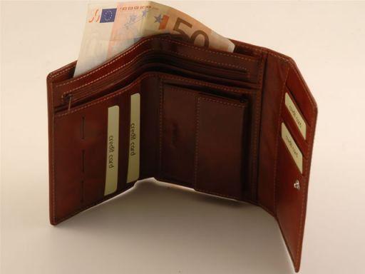 Esclusivo portafogli da donna in pelle Arancio TL140616