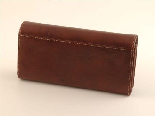 Esclusivo portafogli da donna in pelle Testa di Moro TL140620