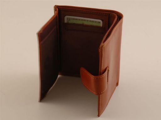 Esclusivo portafogli da donna in pelle Testa di Moro TL140622