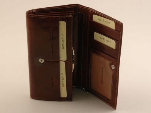 Esclusivo portafogli da donna in pelle Verde TL140625