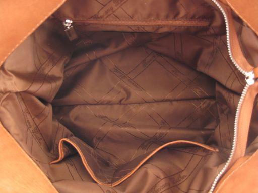 Aurora Borsa in pelle stampa cocco da donna Nero TL140756