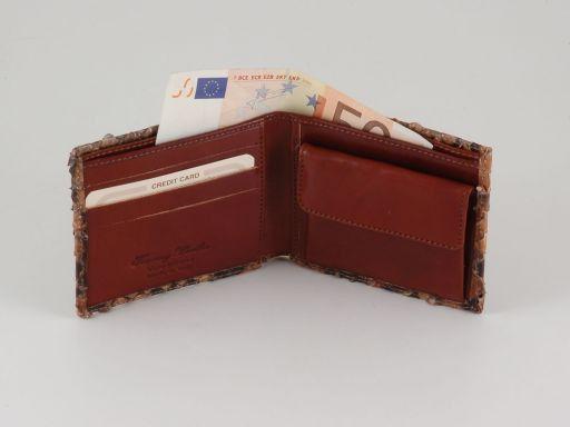 Esclusivo portafoglio uomo in vero pitone Marrone TL140769