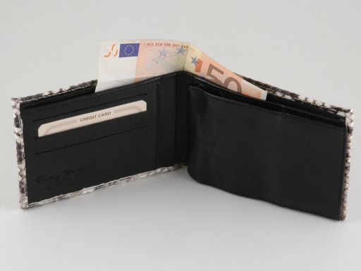 Esclusivo portafoglio uomo in vero pitone Roccia TL140772