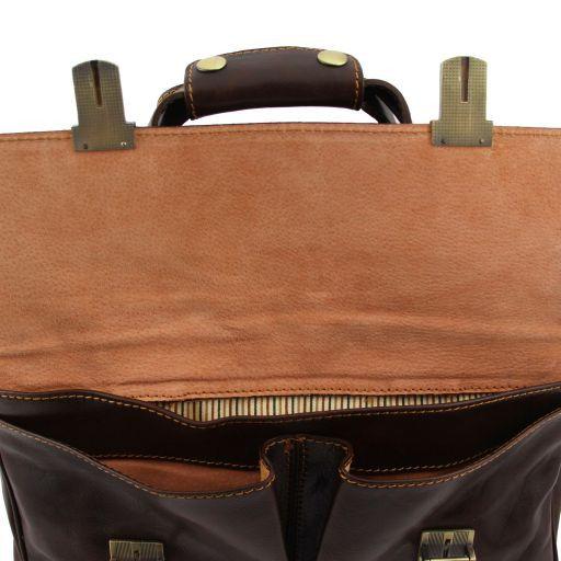 Reggio Emilia Эксклюзивная кожаная сумка для ноутбука Черный TL140889