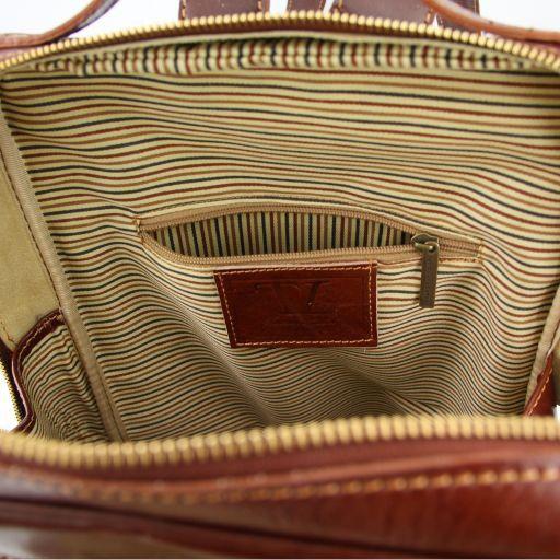 Bangkok Zaino portanotebook in pelle con scomparto davanti Rosso TL140898