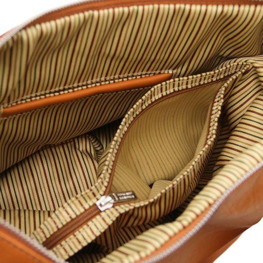 Yvette Beuteltasche aus weichem Leder Dunkelblau TL140900