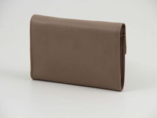 Esclusivo portafogli in pelle nappata da donna Talpa scuro TL140904