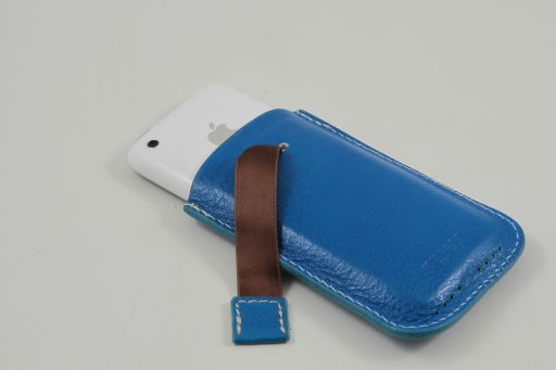 Leather iPhone3 iPhone4/4s holder Оранжевый TL140927