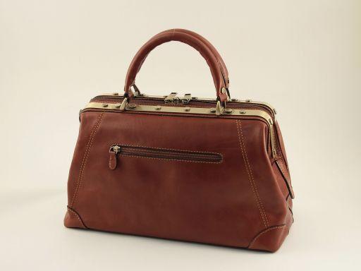 Donatello Doctor leather bag - small size Коричневый TL140958