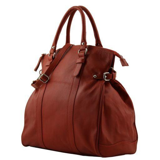 Eleonora Women's leather handbag Gunmetal Grey TL141030