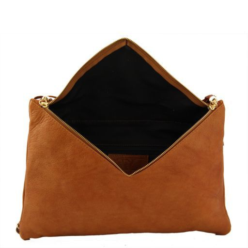 Audrey Clutch leather handbag - Large size Коричневый TL141033