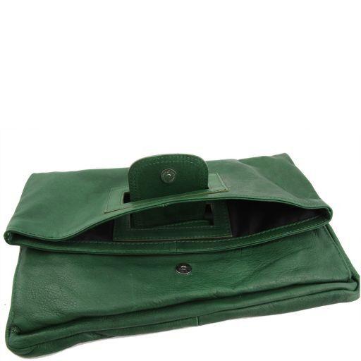 Emma Leather clutch Dark Brown TL141035