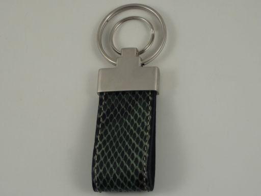 Esclusivo portachiavi in pitone Verde scuro TL140736